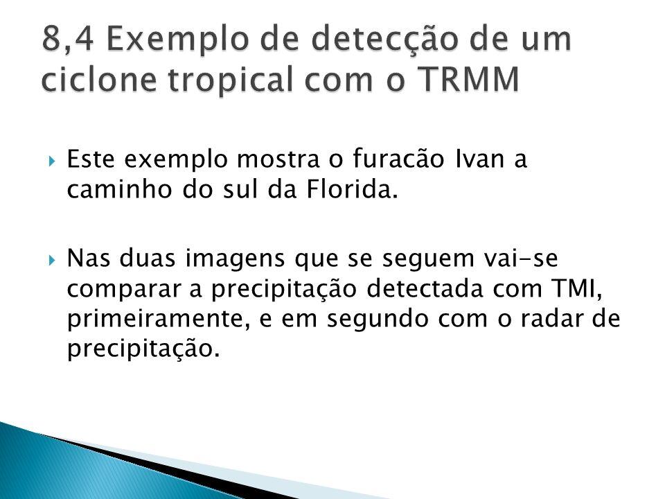 8,4 Exemplo de detecção de um ciclone tropical com o TRMM