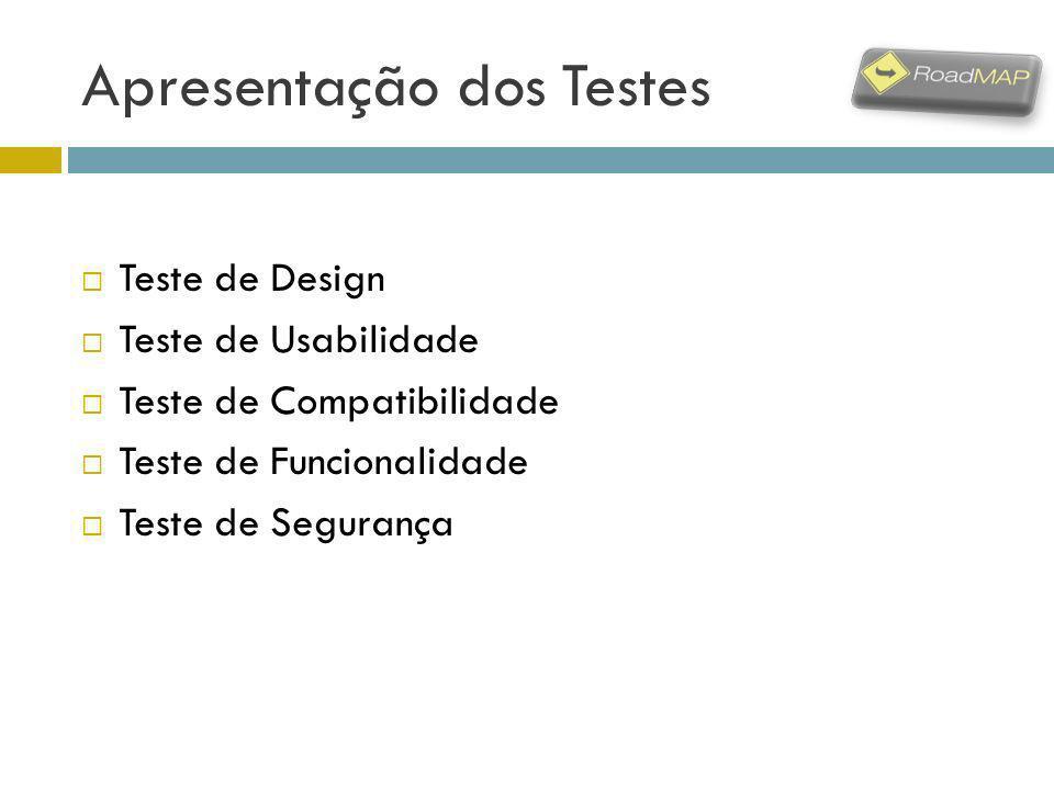 Apresentação dos Testes