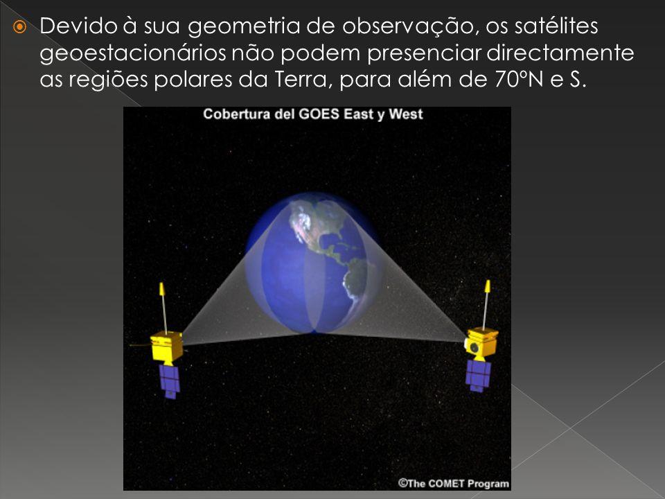 Devido à sua geometria de observação, os satélites geoestacionários não podem presenciar directamente as regiões polares da Terra, para além de 70ºN e S.