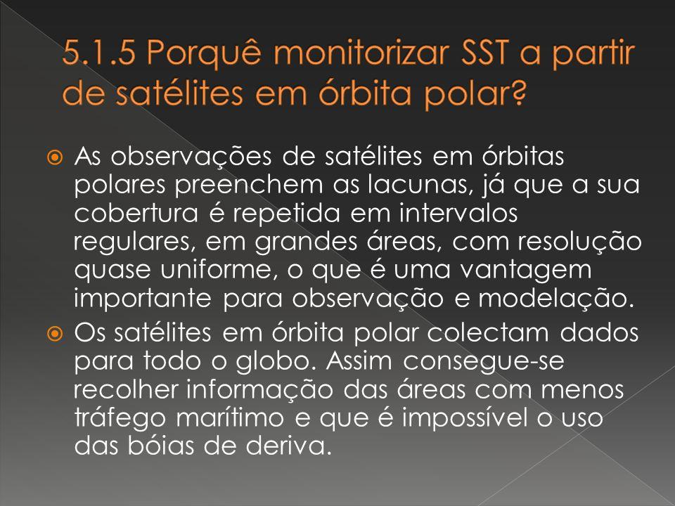 5.1.5 Porquê monitorizar SST a partir de satélites em órbita polar