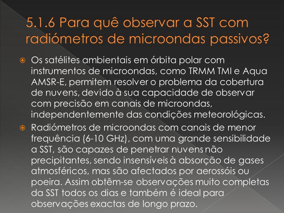 5.1.6 Para quê observar a SST com radiómetros de microondas passivos