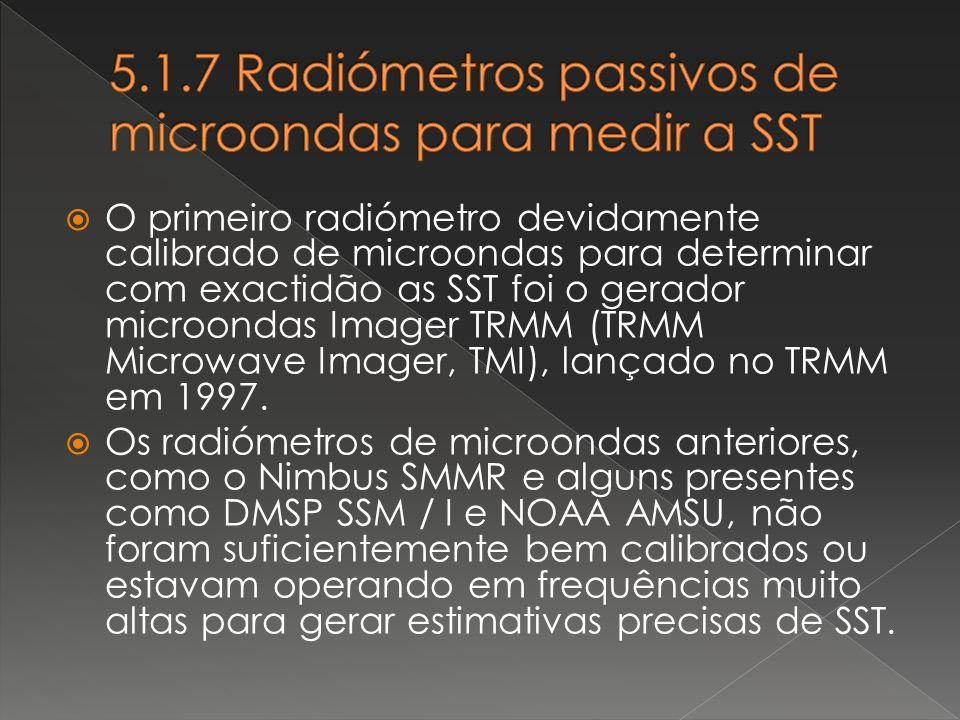 5.1.7 Radiómetros passivos de microondas para medir a SST