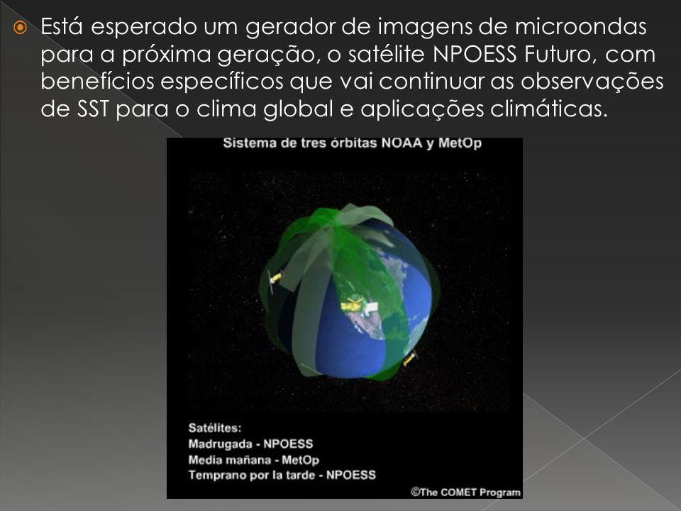 Está esperado um gerador de imagens de microondas para a próxima geração, o satélite NPOESS Futuro, com benefícios específicos que vai continuar as observações de SST para o clima global e aplicações climáticas.
