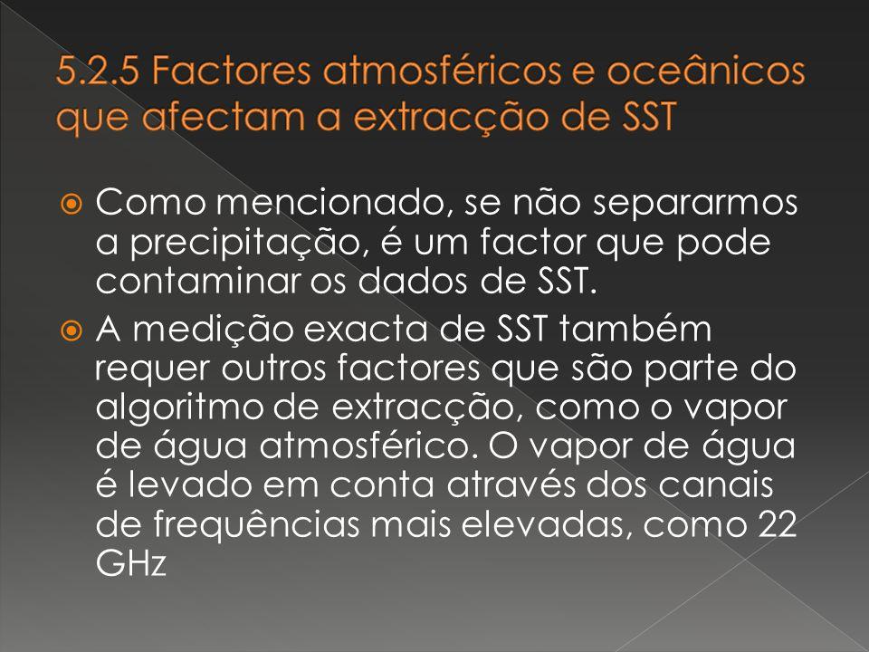 5.2.5 Factores atmosféricos e oceânicos que afectam a extracção de SST