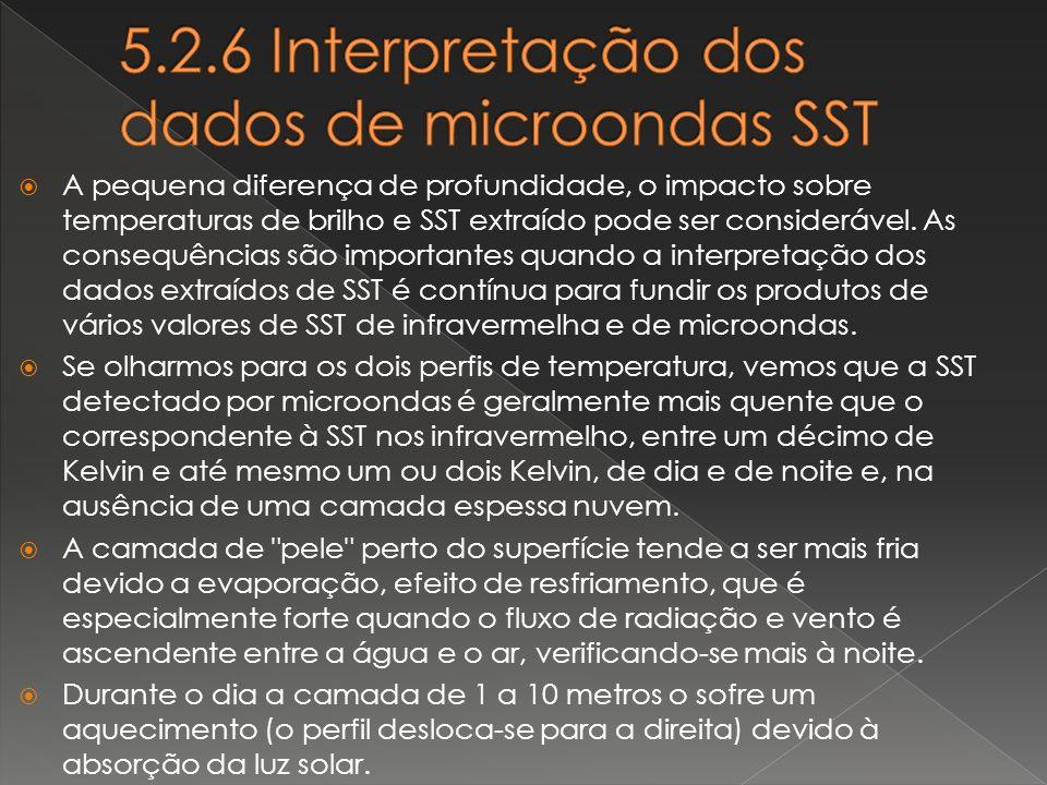 5.2.6 Interpretação dos dados de microondas SST