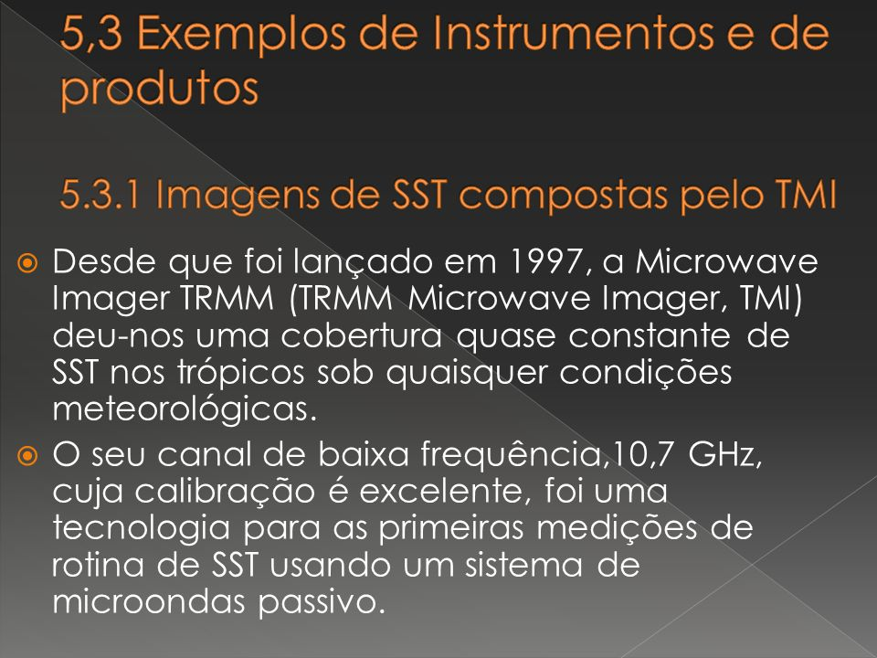 5,3 Exemplos de Instrumentos e de produtos 5. 3