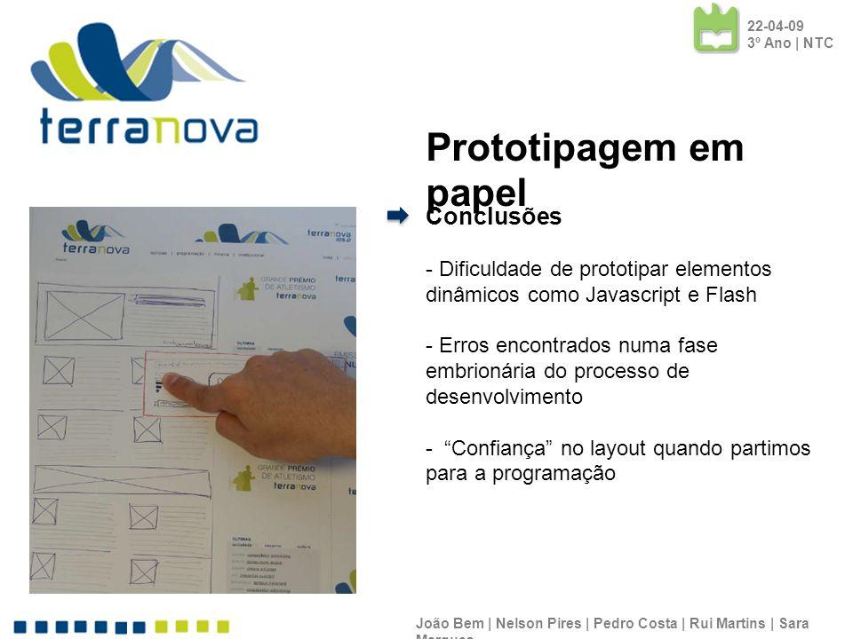 Prototipagem em papel Conclusões