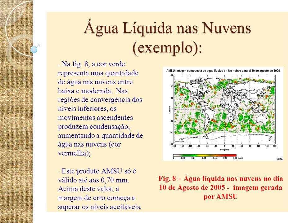 Água Líquida nas Nuvens (exemplo):