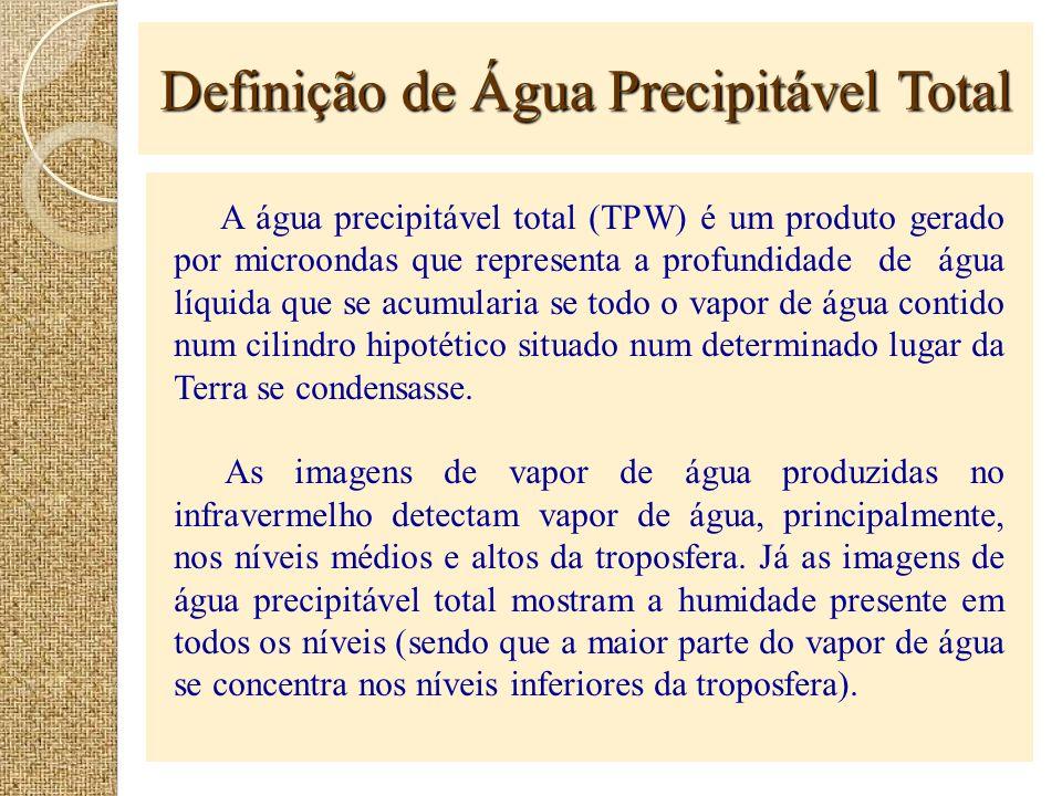 Definição de Água Precipitável Total