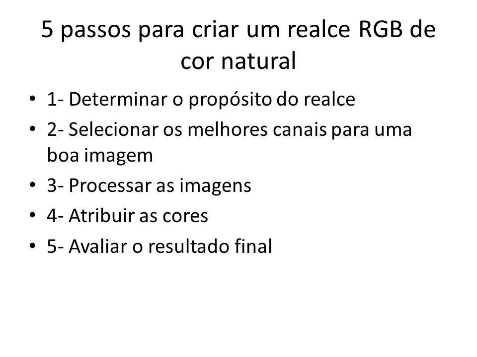 5 passos para criar um realce RGB de cor natural