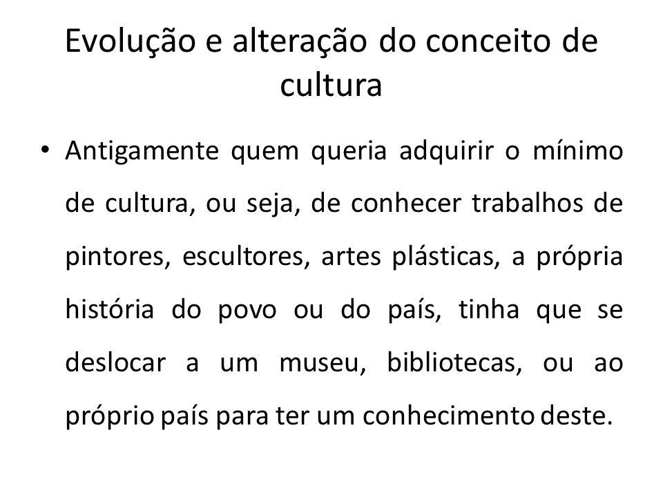 Evolução e alteração do conceito de cultura