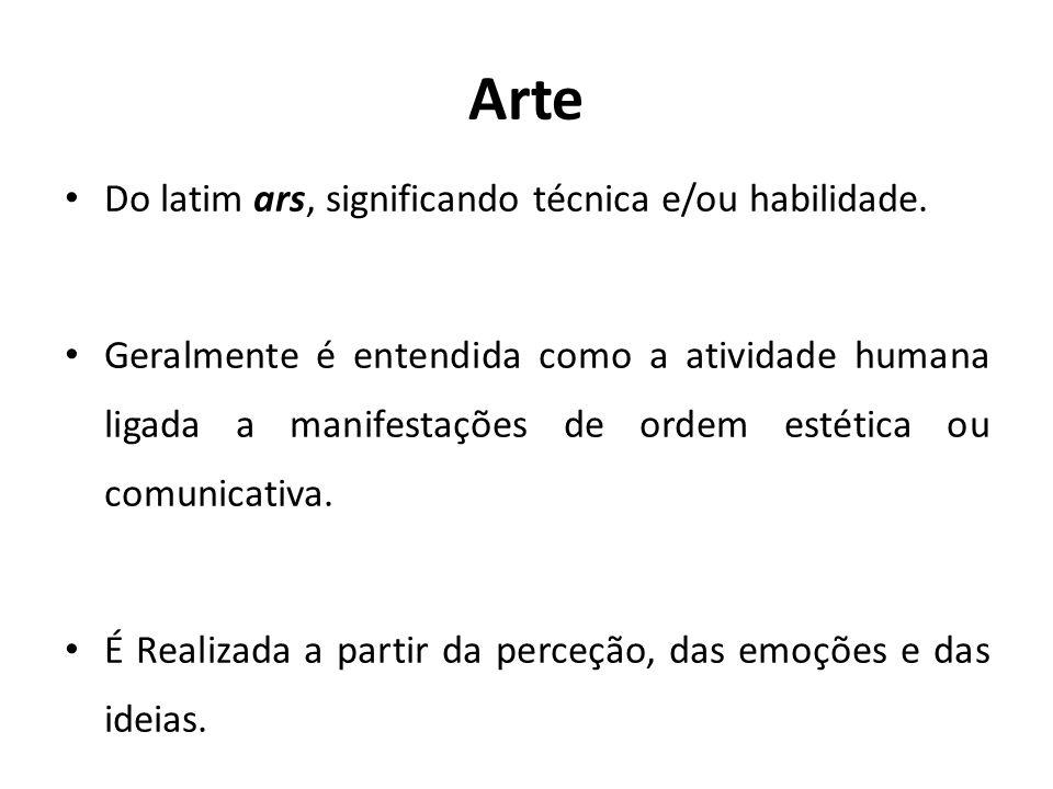 Arte Do latim ars, significando técnica e/ou habilidade.
