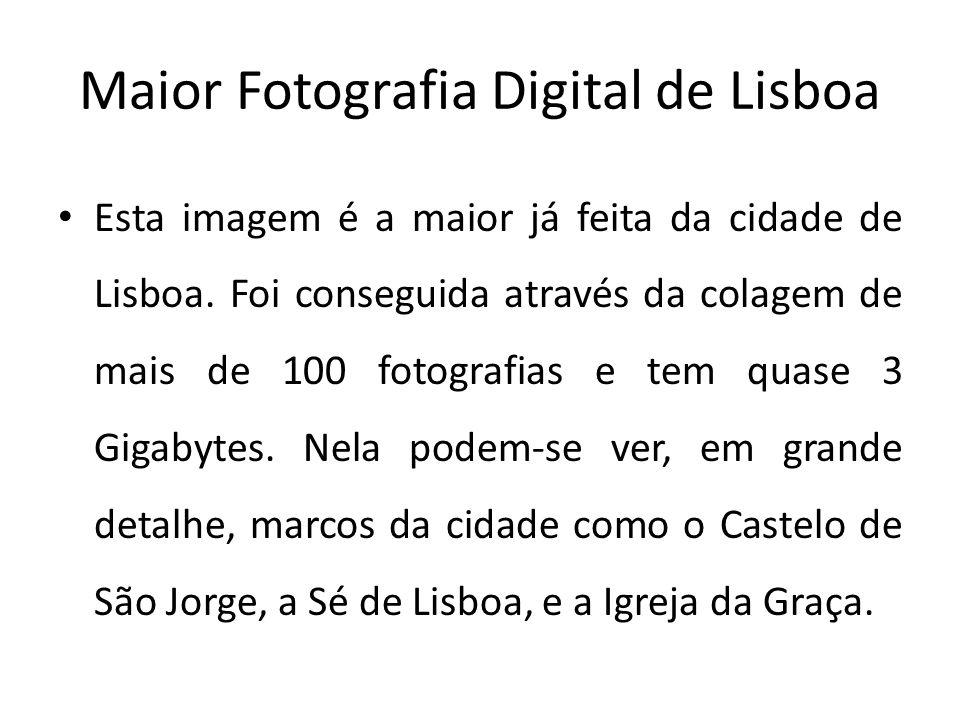Maior Fotografia Digital de Lisboa