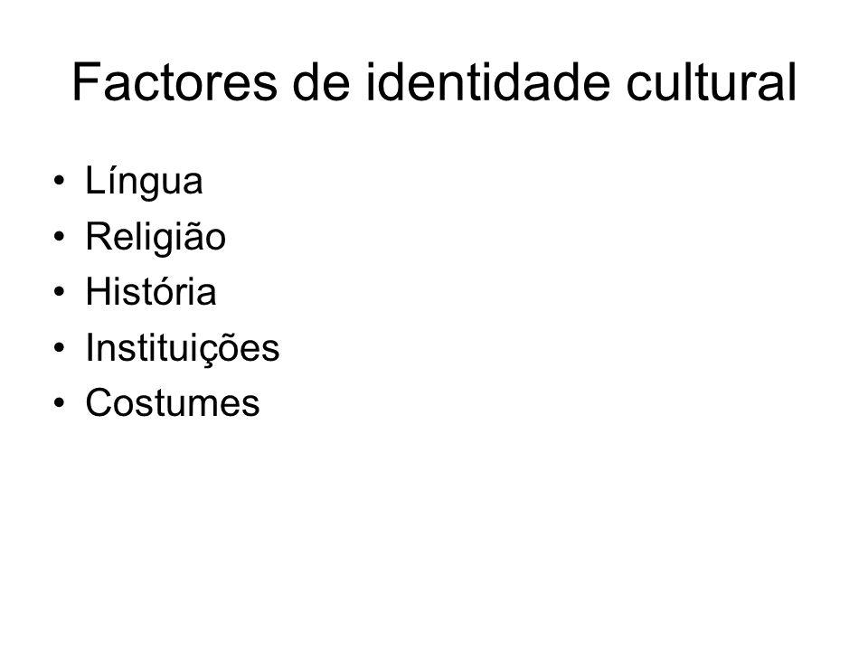 Factores de identidade cultural