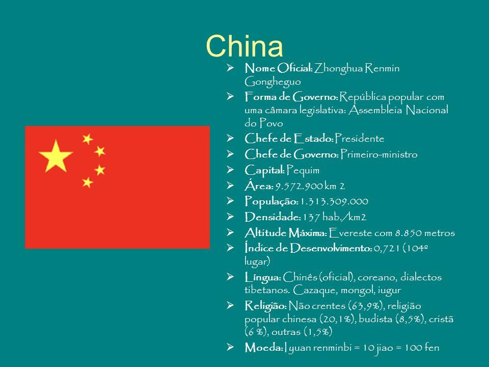 China Nome Oficial: Zhonghua Renmin Gongheguo