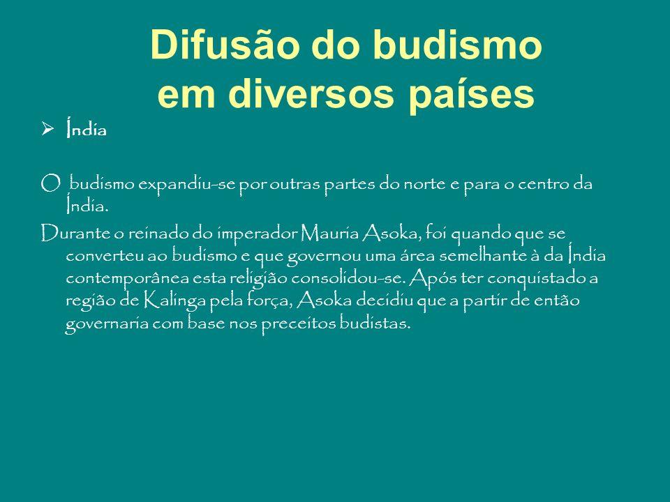 Difusão do budismo em diversos países