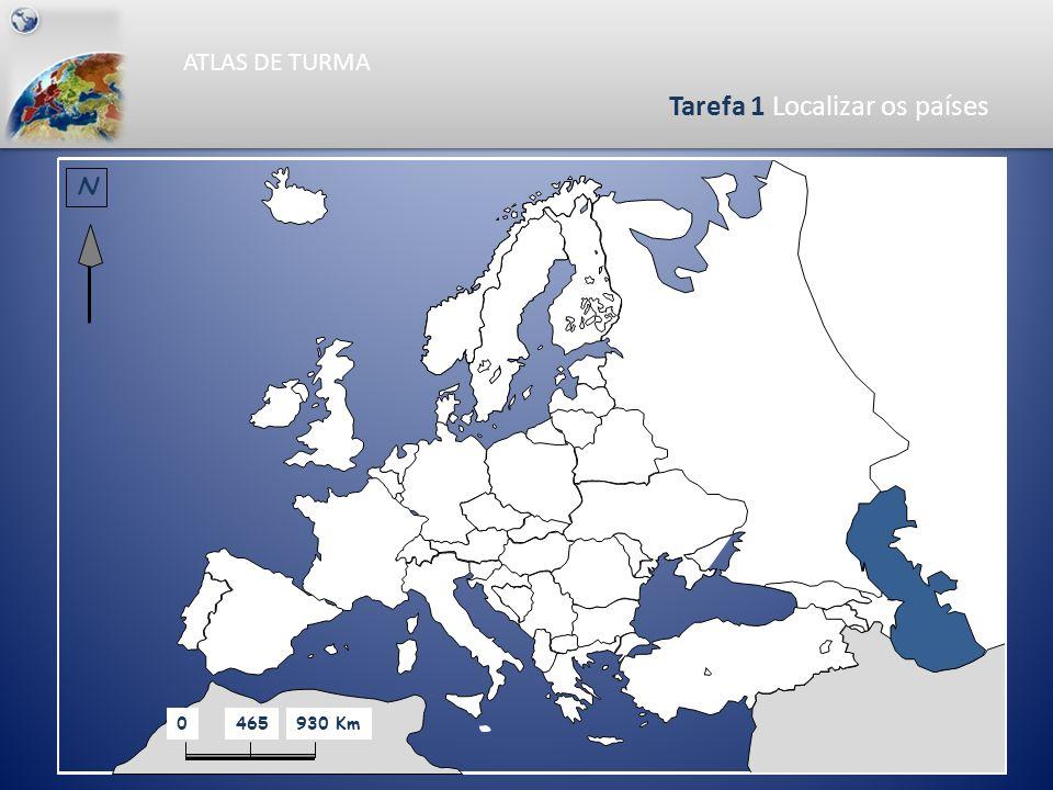 Tarefa 1 Localizar os países
