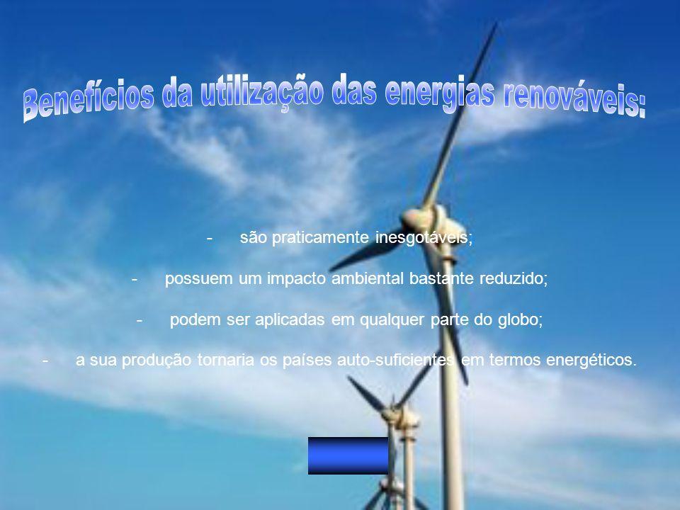 Benefícios da utilização das energias renováveis: