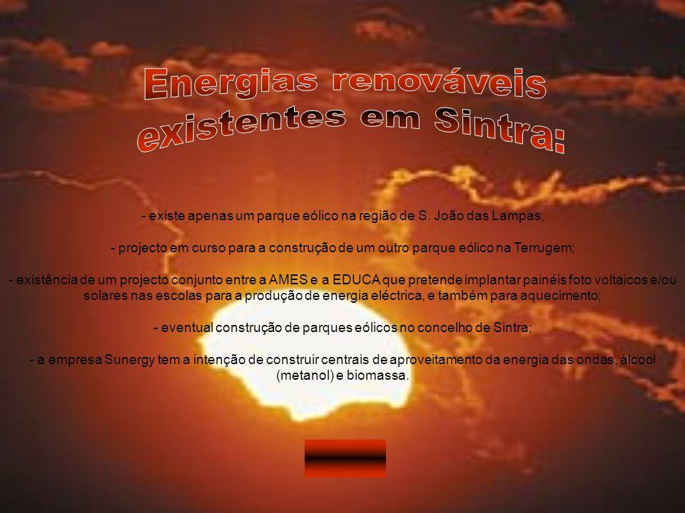 Energias renováveis existentes em Sintra: