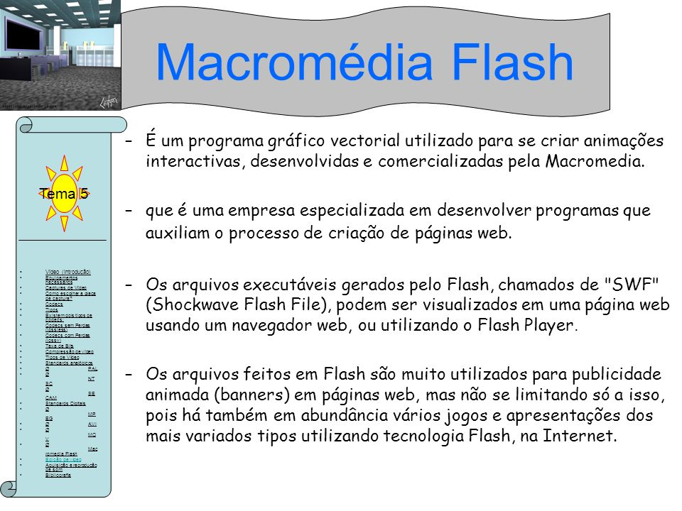 Macromédia Flash Tema 5.
