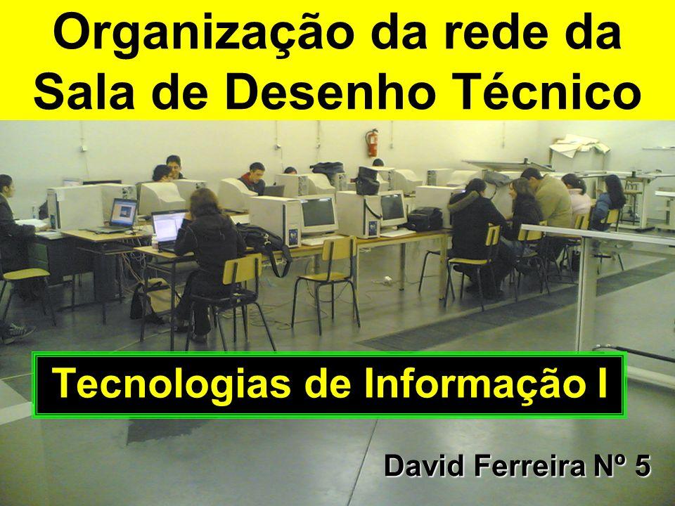Organização da rede da Sala de Desenho Técnico