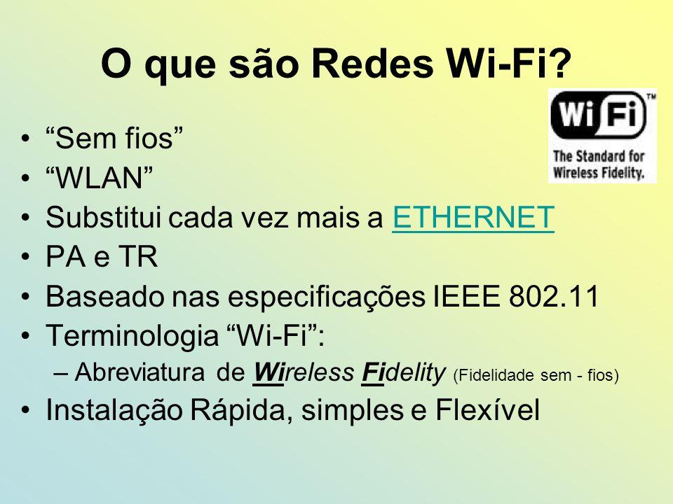 O que são Redes Wi-Fi Sem fios WLAN