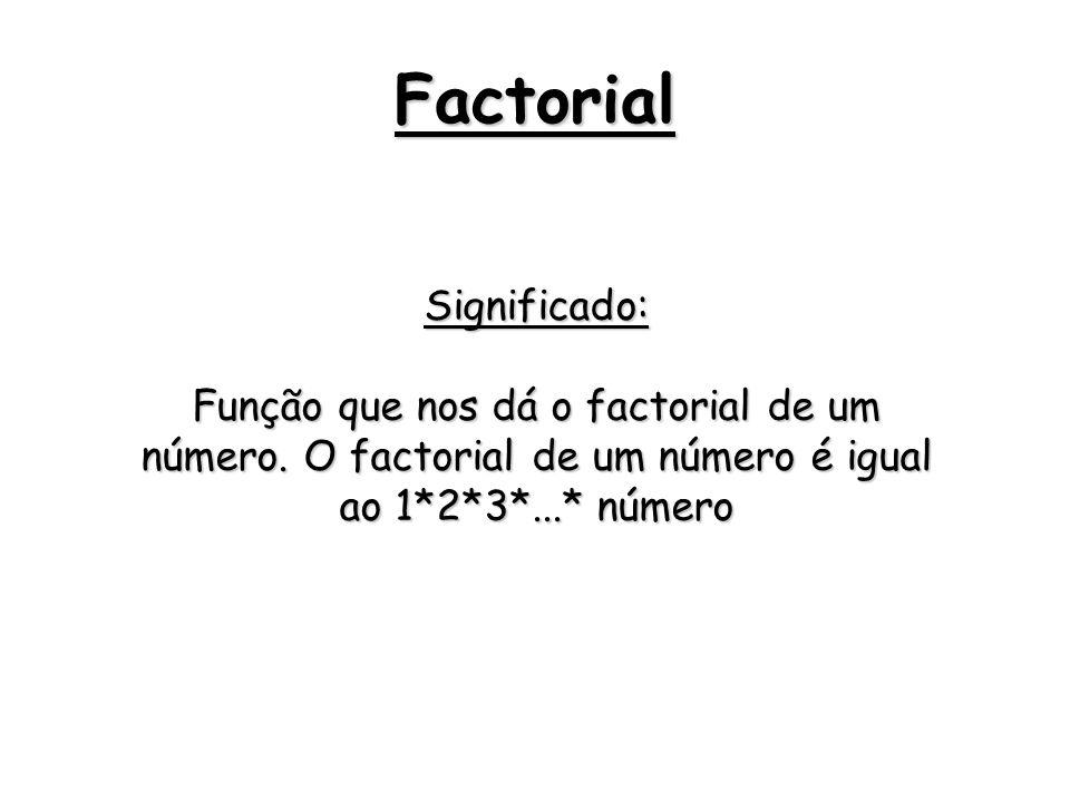 Factorial Significado: