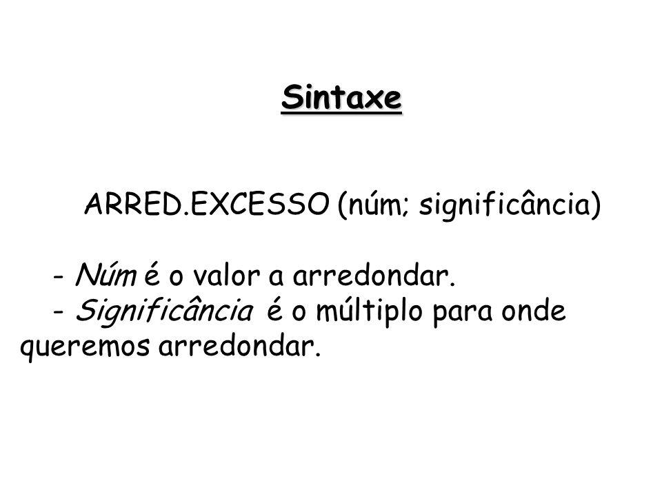 ARRED.EXCESSO (núm; significância)