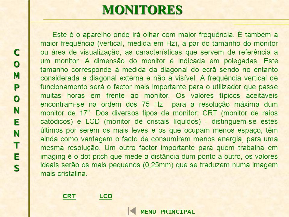 MONITORES COMPONENTES