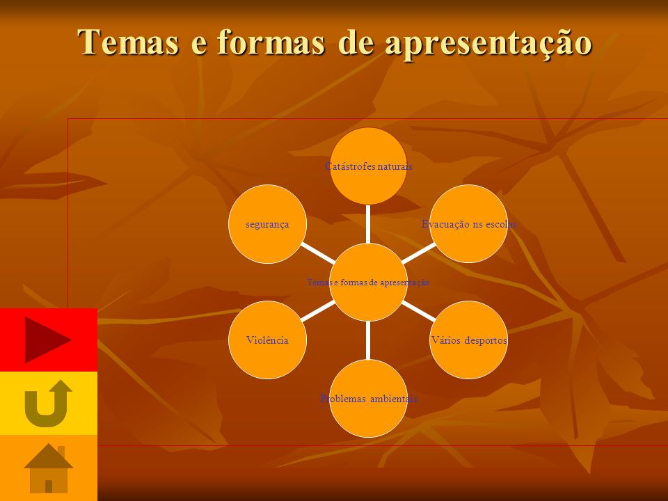 Temas e formas de apresentação
