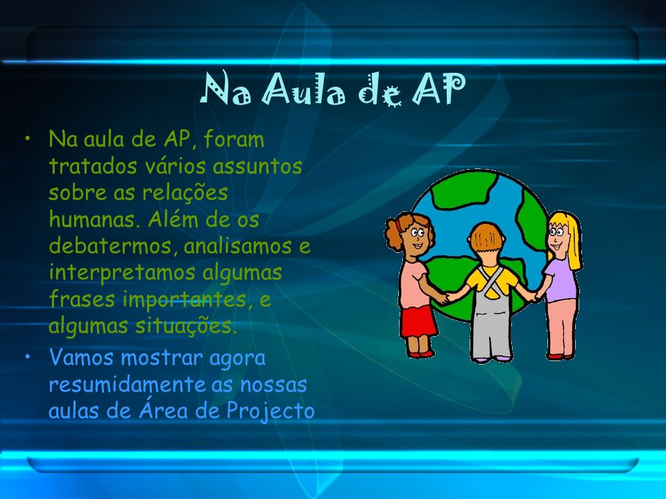 Na Aula de AP
