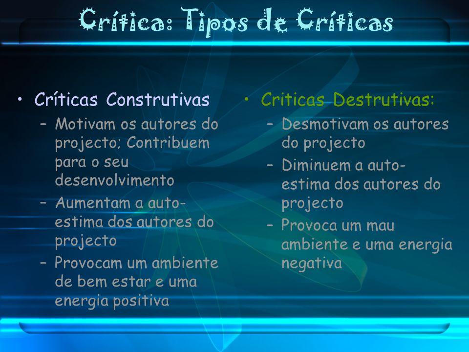 Crítica: Tipos de Críticas
