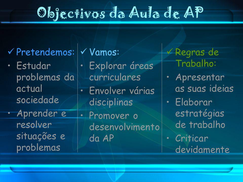 Objectivos da Aula de AP