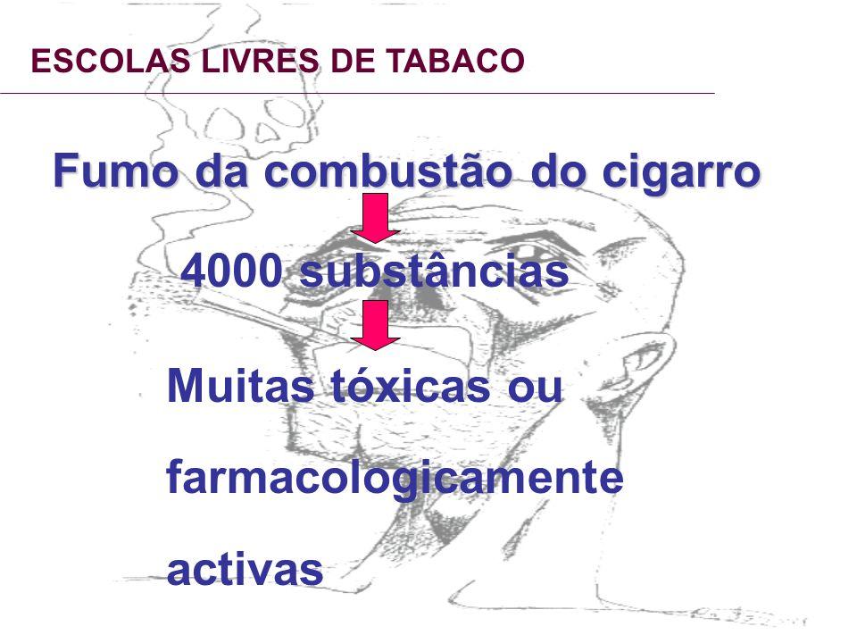 Fumo da combustão do cigarro