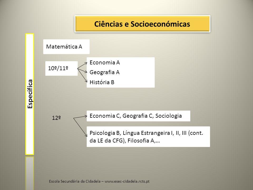 Ciências e Socioeconómicas