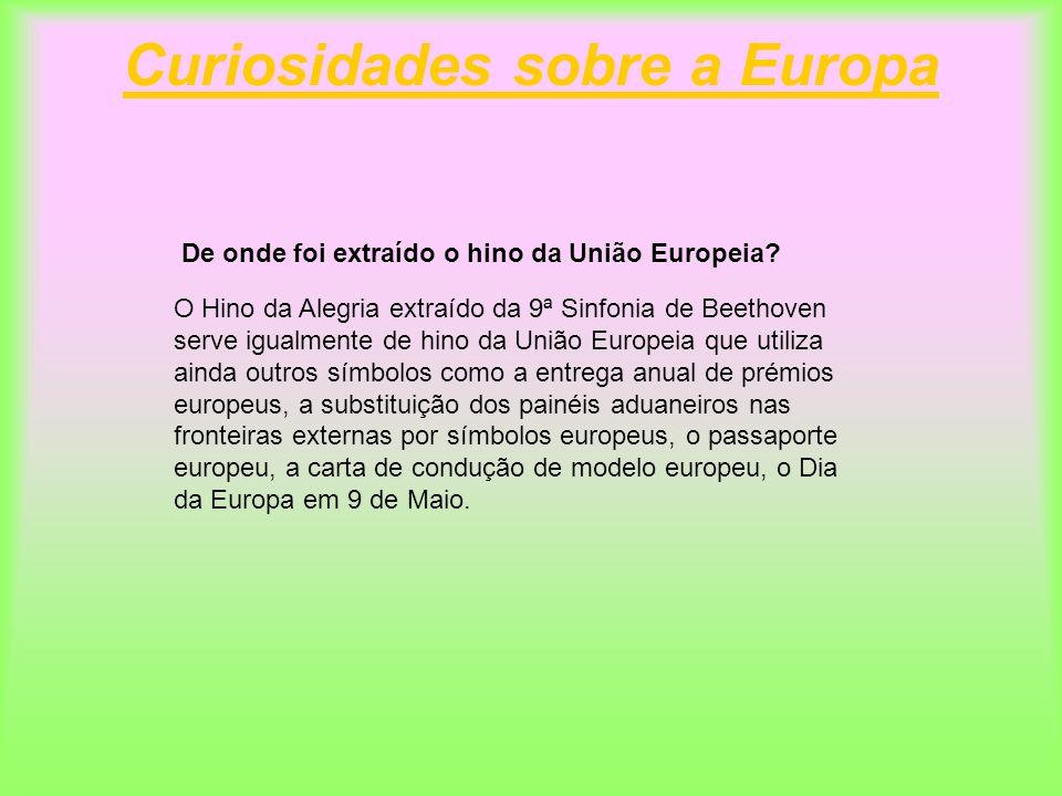 Curiosidades sobre a Europa