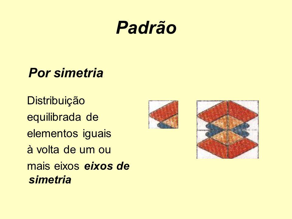 Padrão Por simetria Distribuição equilibrada de elementos iguais