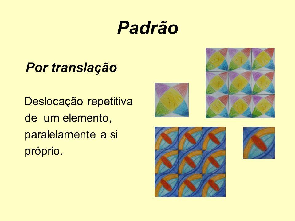 Padrão Por translação de um elemento, paralelamente a si próprio.