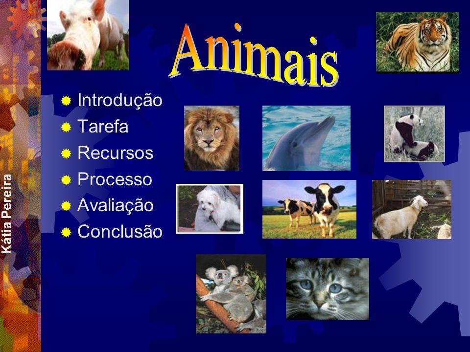 Animais Introdução Tarefa Recursos Processo Avaliação Conclusão