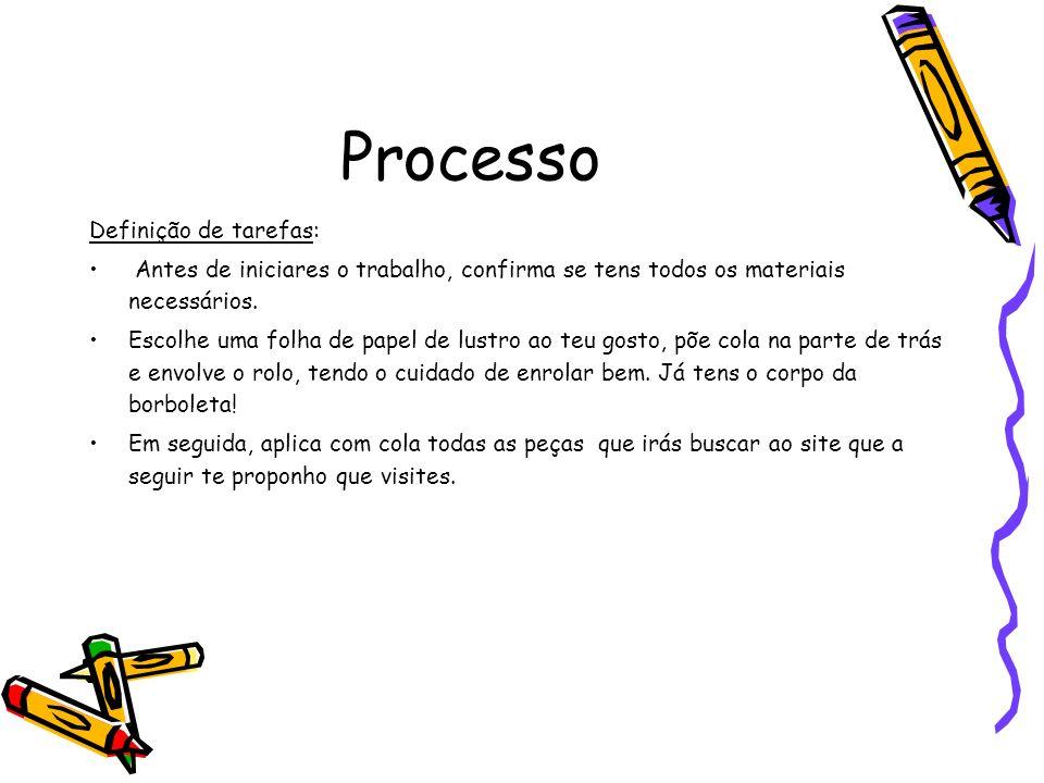Processo Definição de tarefas: