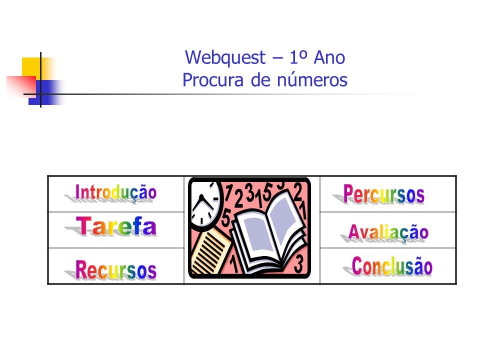 Webquest – 1º Ano Procura de números