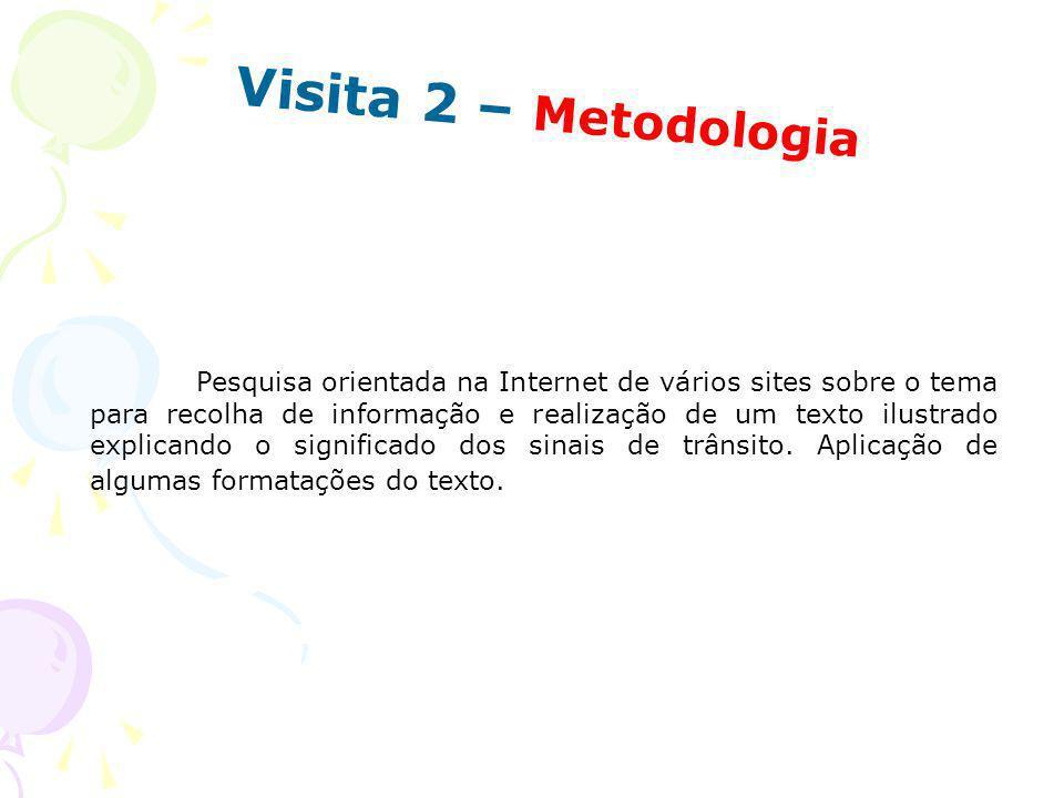Visita 2 – Metodologia
