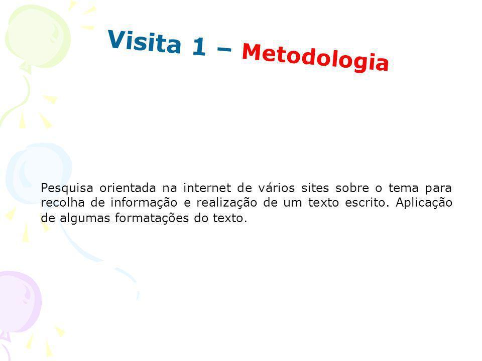 Visita 1 – Metodologia