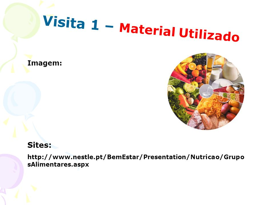 Visita 1 – Material Utilizado