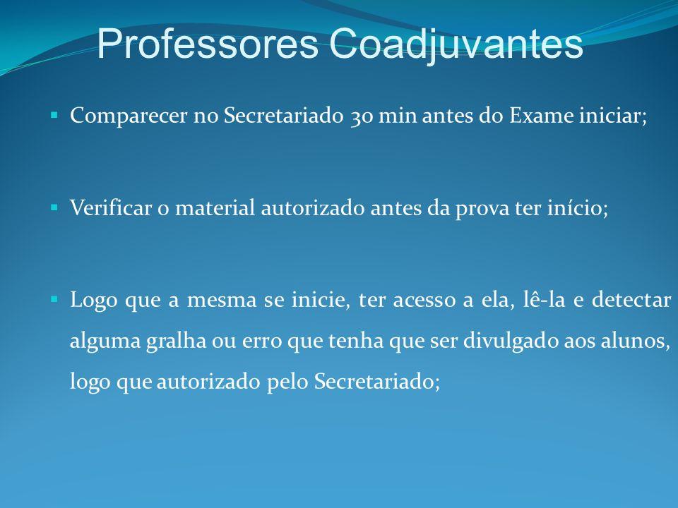 Professores Coadjuvantes