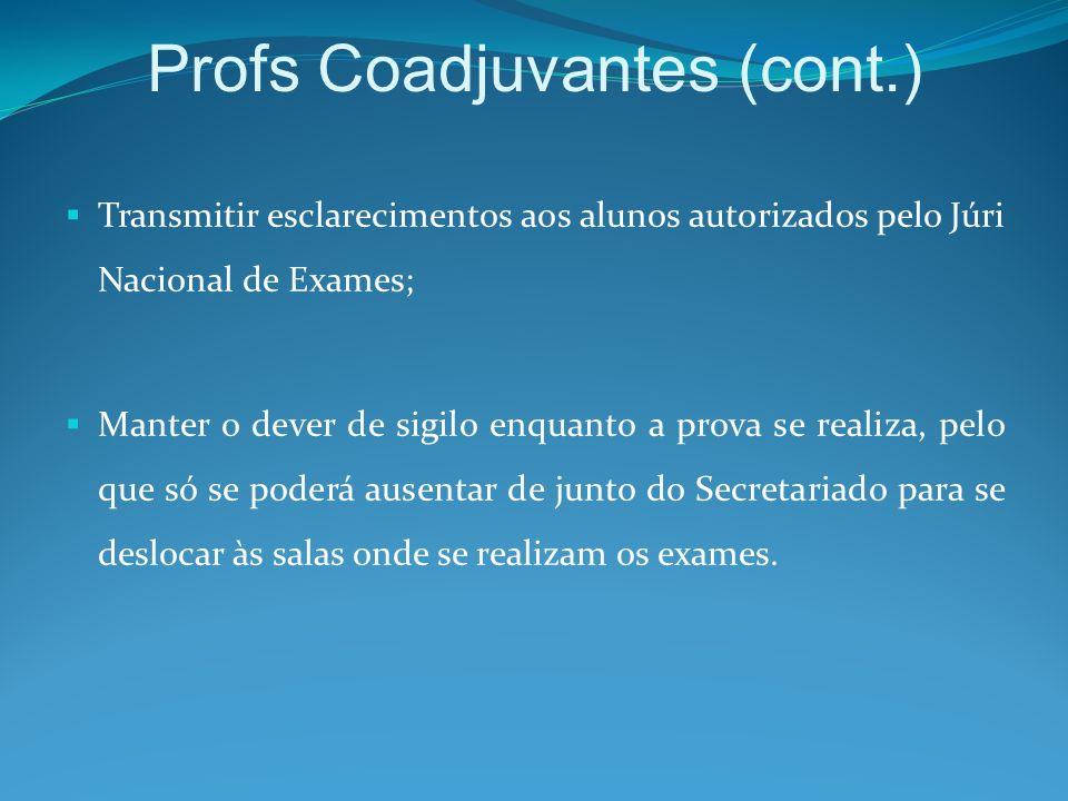 Profs Coadjuvantes (cont.)