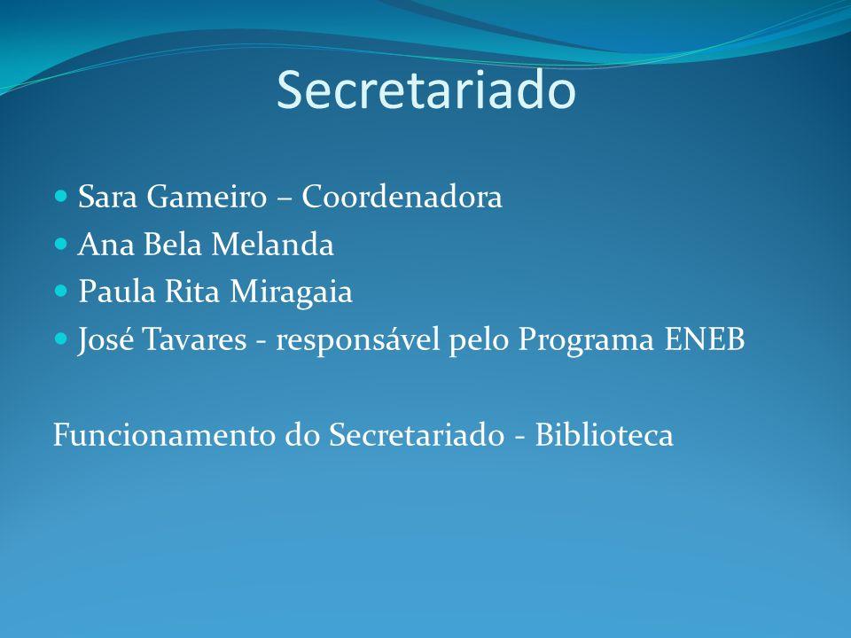 Secretariado Sara Gameiro – Coordenadora Ana Bela Melanda