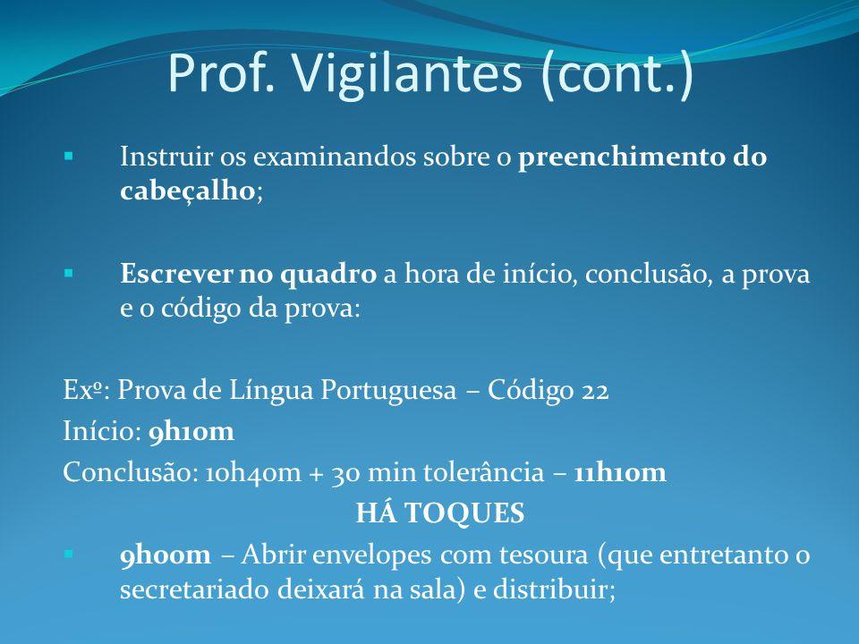 Prof. Vigilantes (cont.)