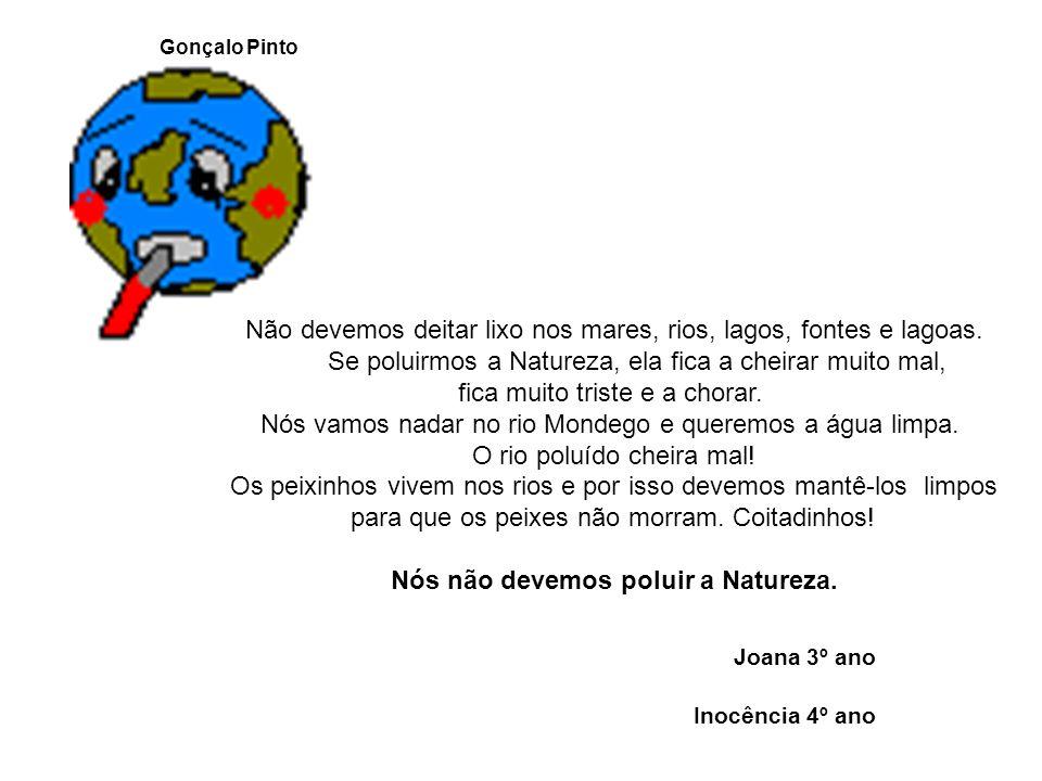 Não devemos deitar lixo nos mares, rios, lagos, fontes e lagoas.