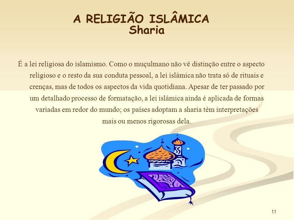 A RELIGIÃO ISLÂMICA Sharia